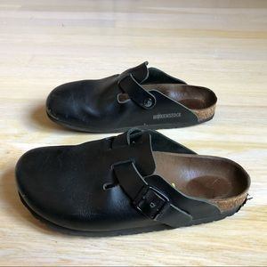 Birkenstock Boston Clog Black Leather Size 39